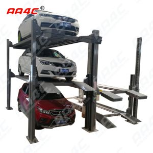 4 post Triple Stacker Parking lift