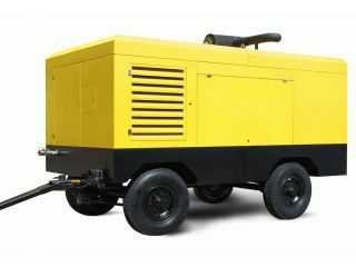 Mobile Diesel Electrical air compressor  -Screw  type